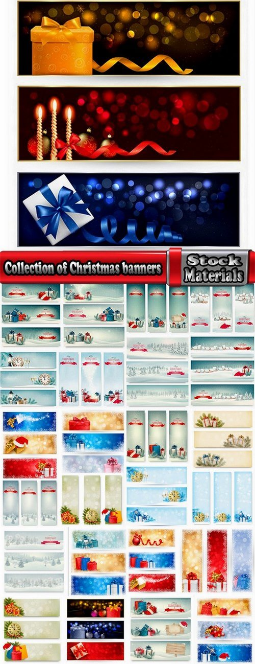 Collection of Christmas banners #2-25 Eps