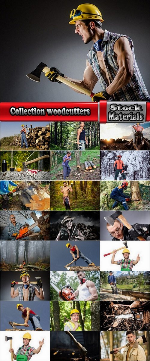 Collection woodcutters 25 UHQ Jpeg
