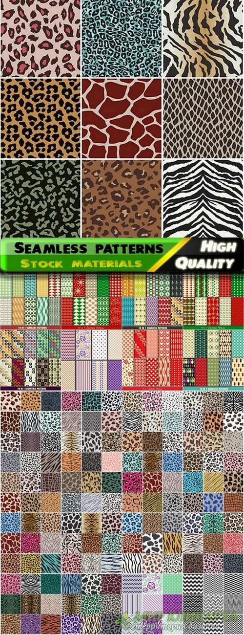 Abstract  Seamless patterns in vector set from stock #26 - 25 Eps
