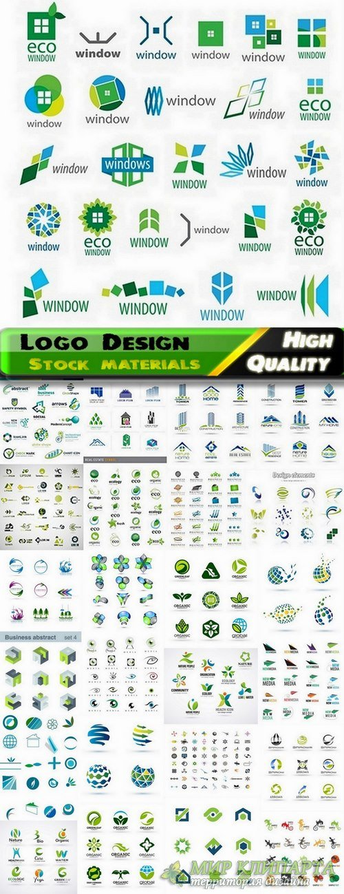 Logo Design in vector Set from stock #50 -  25 Eps