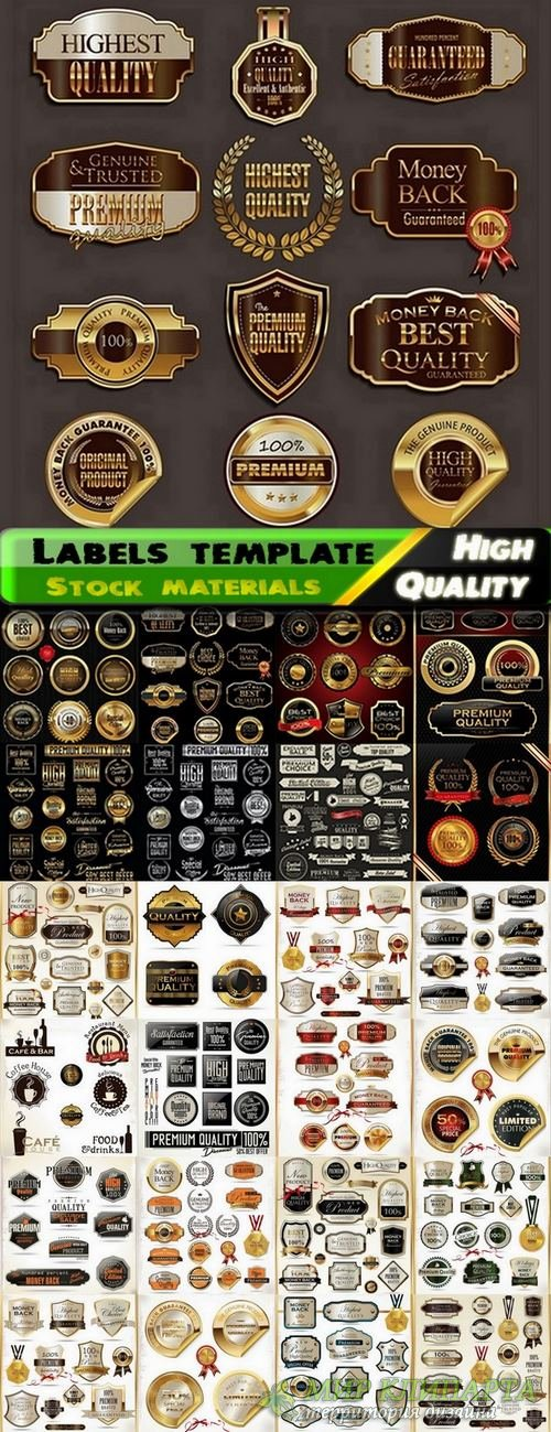 Labels template design in vector from stock set #20 - 25 Eps