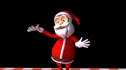 Праздничный футаж - Танец Деда Мороза