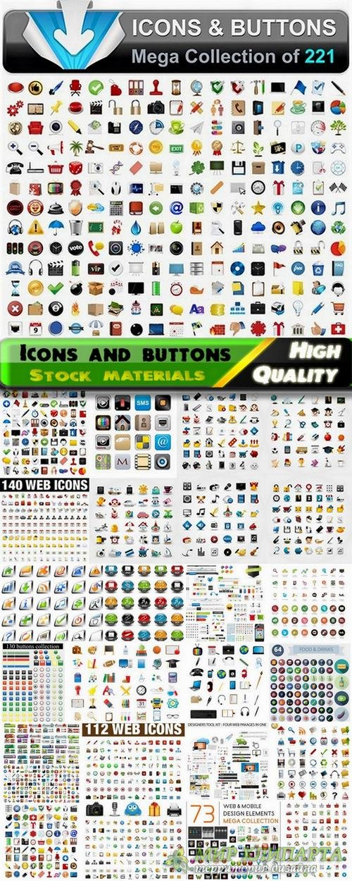 Icons and buttons and web design elements - 25 Eps