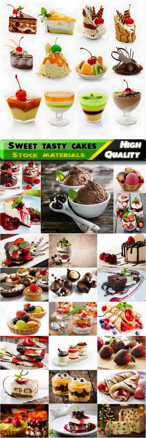 Sweet tasty cakes and desserts stock Images #3 - 25 HQ Jpg