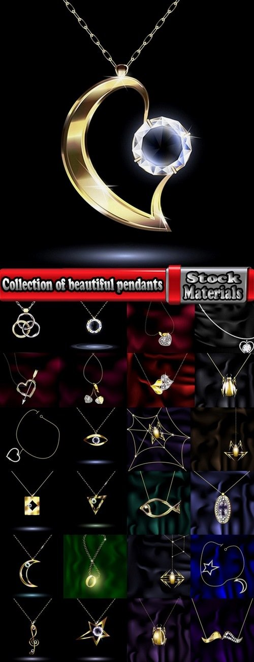 Collection of beautiful pendants 25 Eps