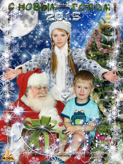Новогодняя открытка для детского сада