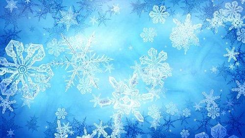 Новогодний футаж - Кристальные снежинки