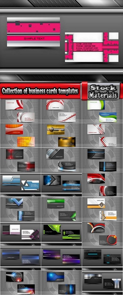 Collection of business cards templates #5-25 Eps
