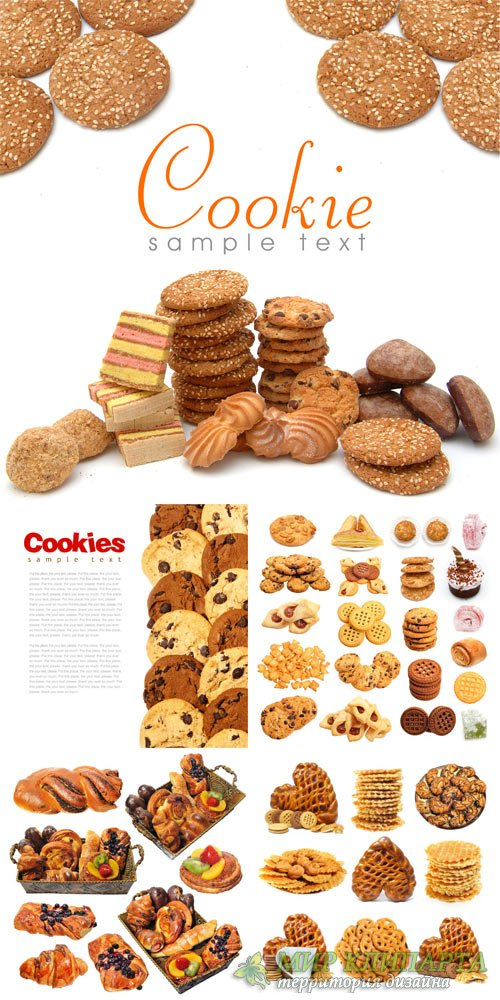 Cookies, cakes - stock photos