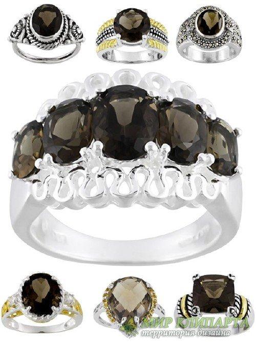 Ювелирные украшения: Кольца и перстни украшенные черным сапфиром (подборка  ...