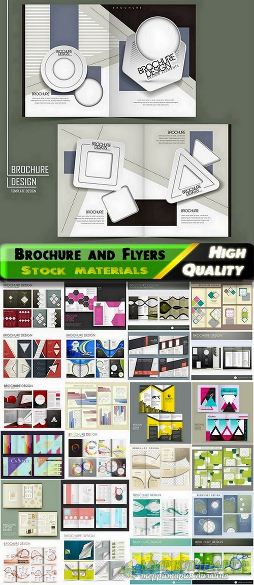 Brochure and Flyers Template Design in vector from stock #31 - 25 Eps