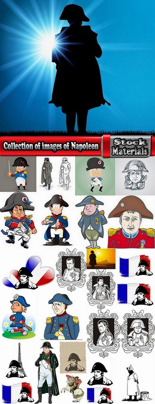 Collection of images of Napoleon vector image 25 Eps