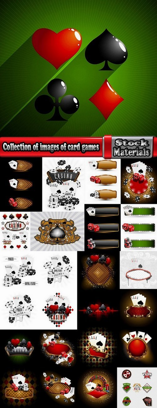 Collection of images of card games vector image 25 Eps