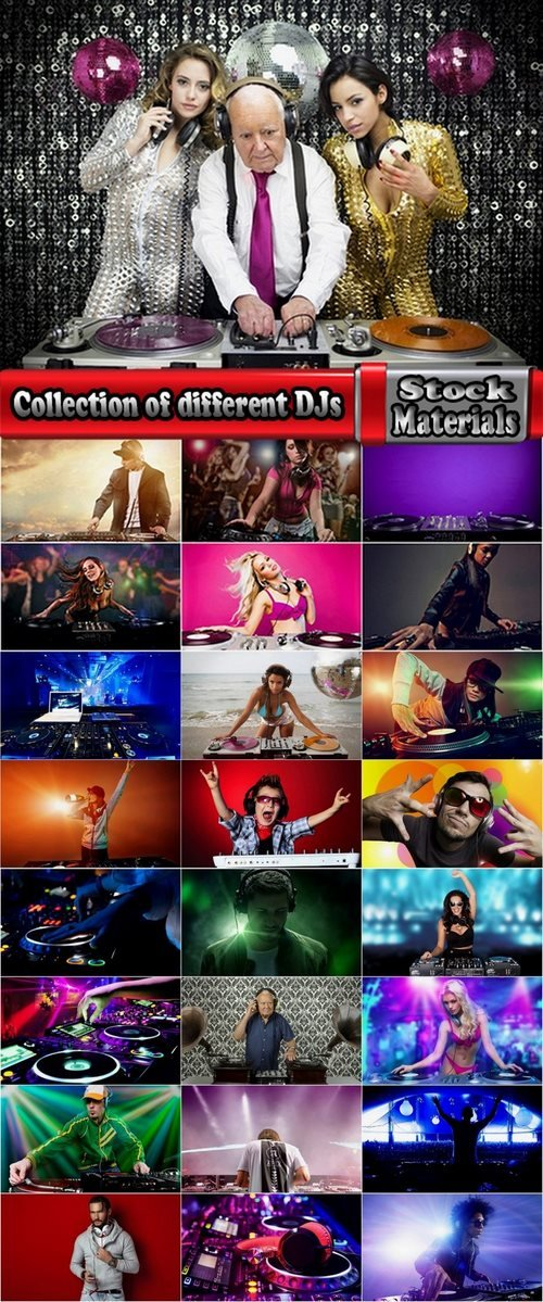 Collection of different DJs 25 UHQ Jpeg