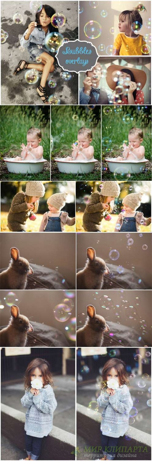 40 Bubble Photo Overlays