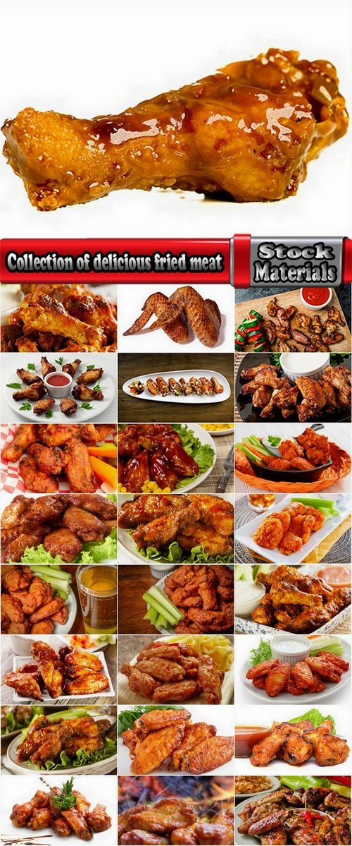 Collection of delicious fried meat 25 UHQ Jpeg