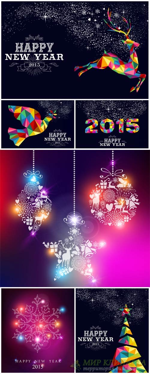 Christmas and New Year, Christmas decorations, snowflakes vector