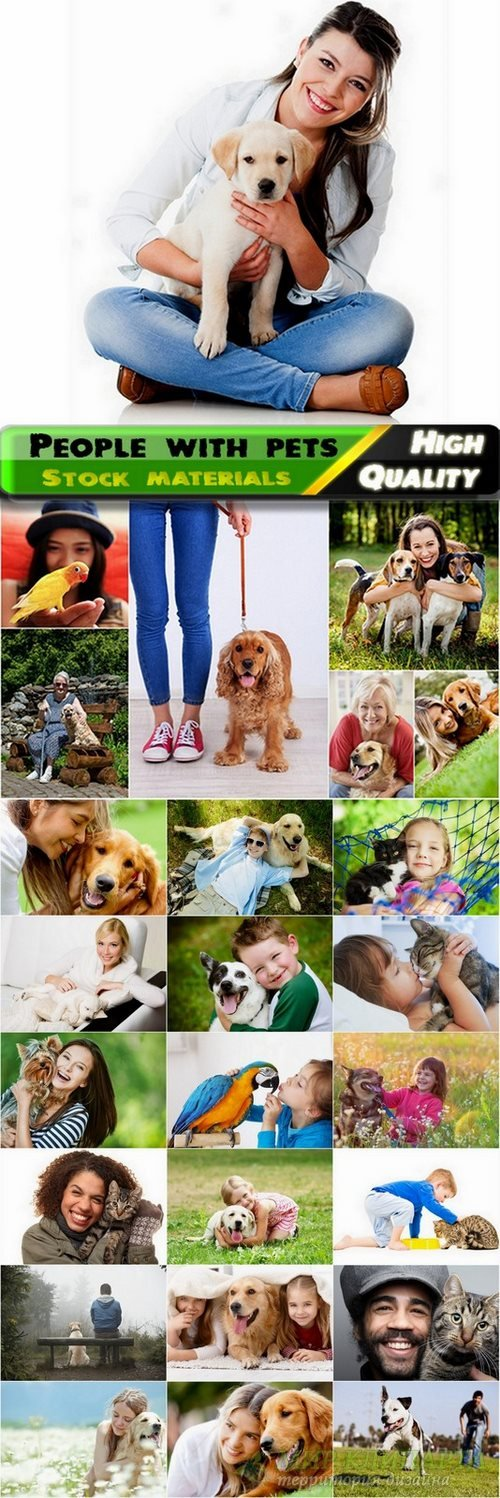 People with pets Stock images - 25 HQ Jpg