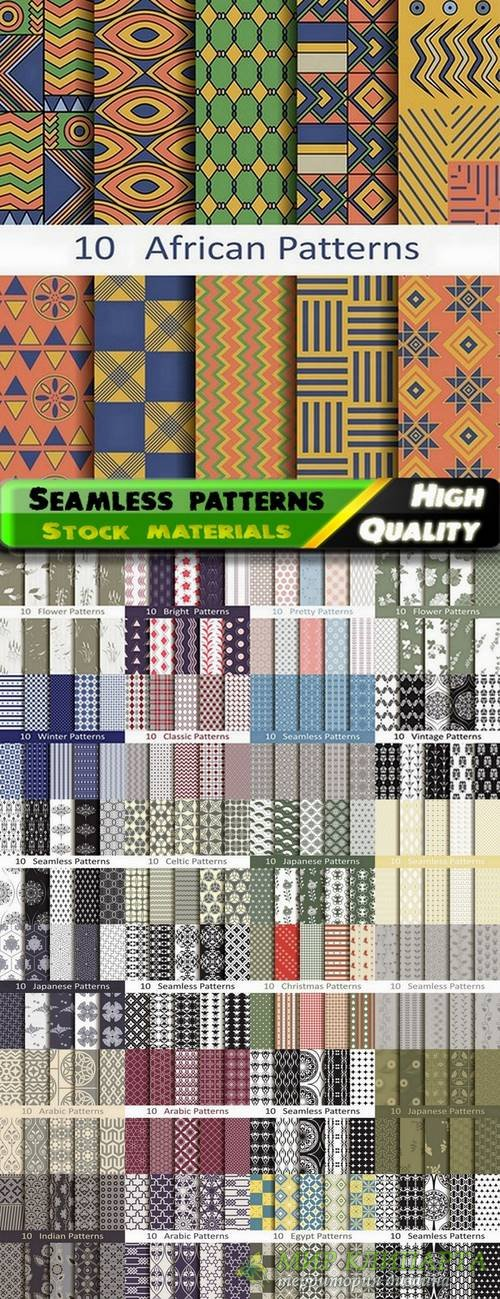 Abstract  Seamless patterns in vector set from stock #27 - 25 Eps