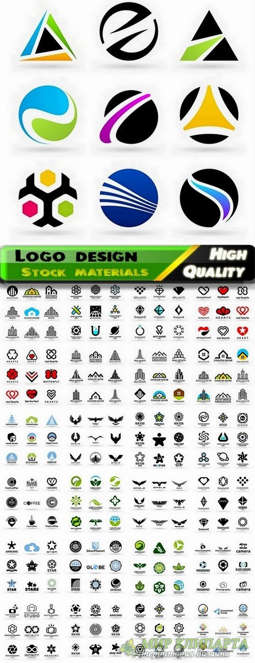 Logo Design in vector Set from stock #54 -  25 Eps