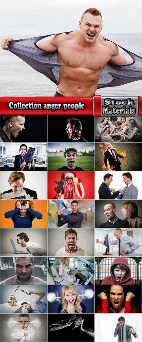 Collection anger people 25 UHQ Jpeg