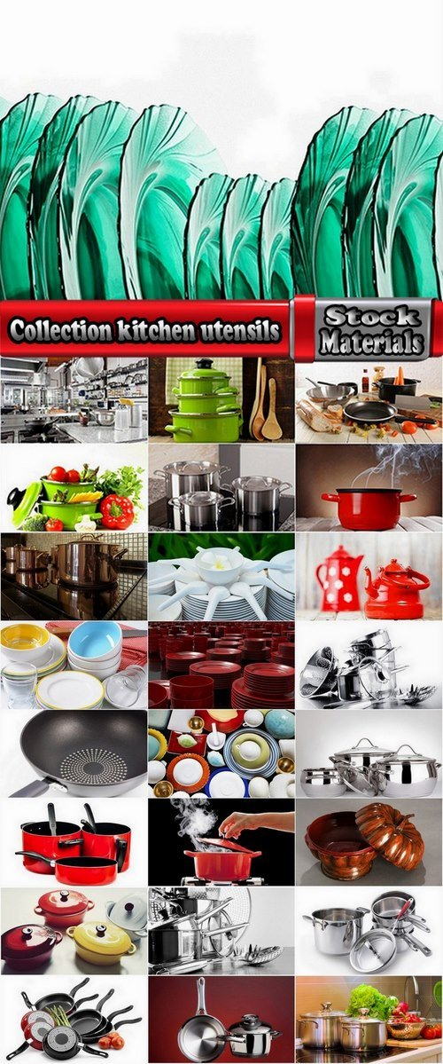 Collection kitchen utensils 25 UHQ Jpeg