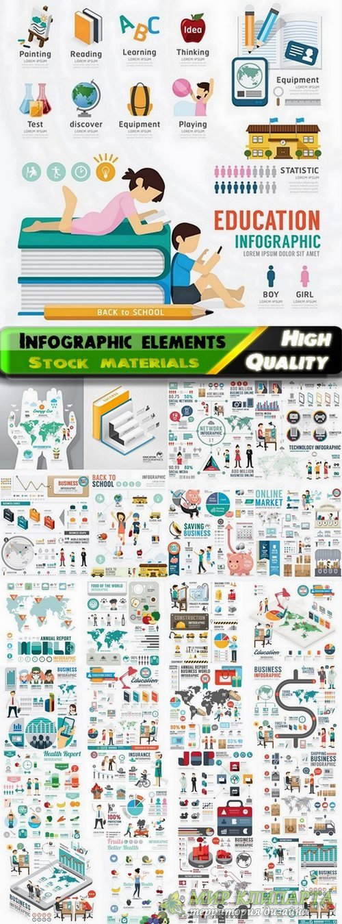 Infographic Design Elements in vector set from stock #102 - 25 Eps