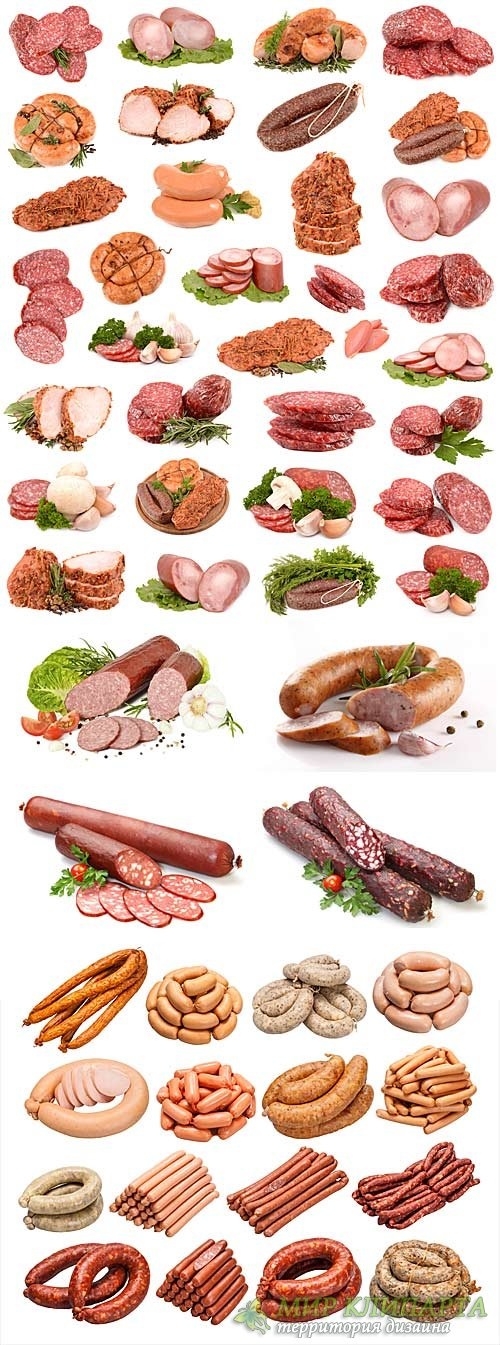 Sausage, meat products - stock photos