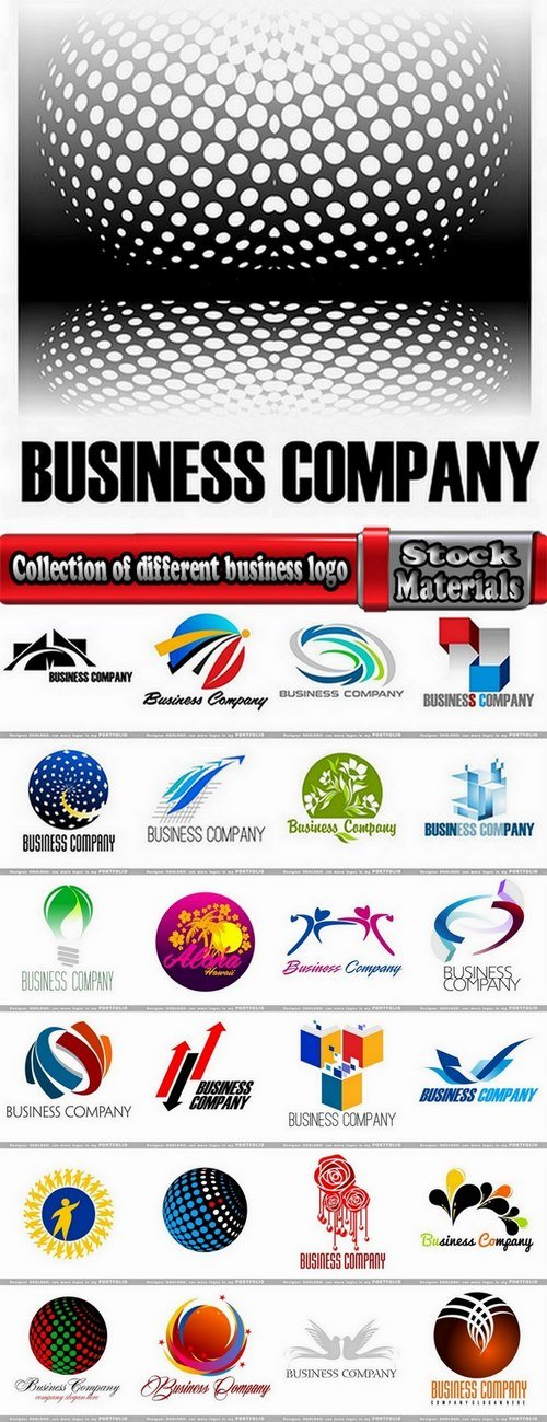 Collection of different business logo #3-25 Eps