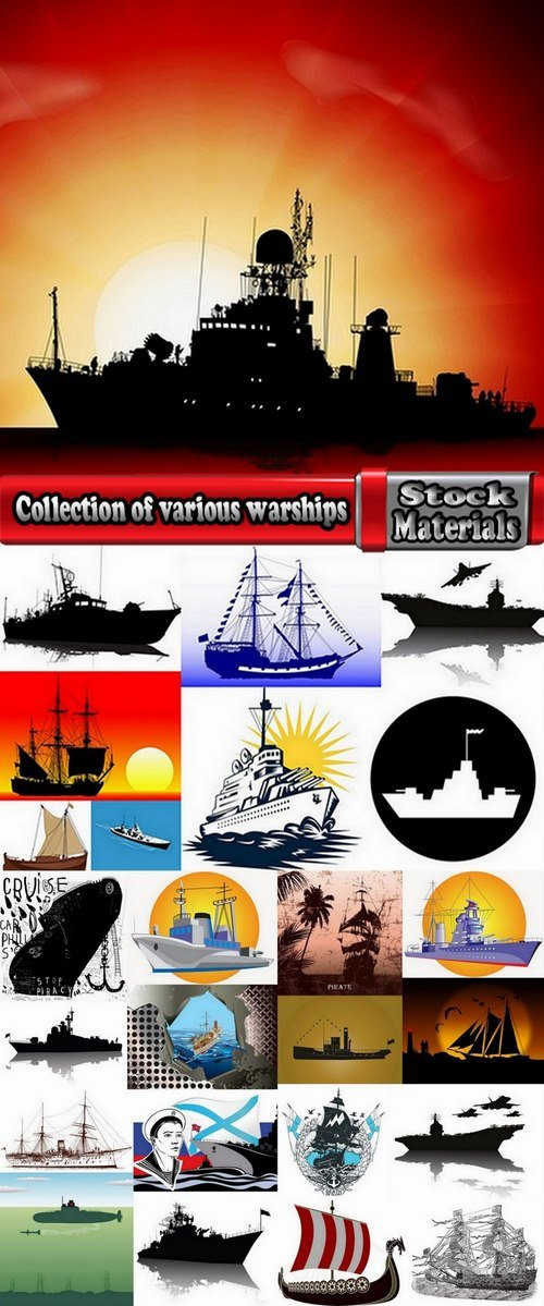 Collection of various warships 25 Eps