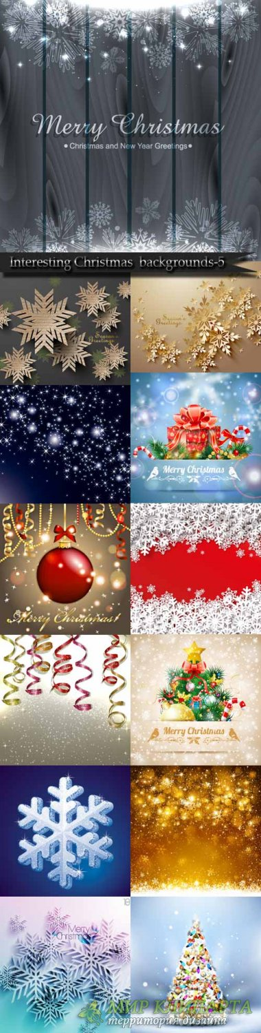 Interesting Christmas vector backgrounds-5
