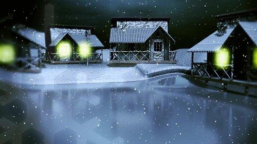 Новогдний футаж - Ночь перед Рождеством