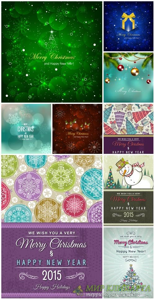 Christmas and new year, winter vector background