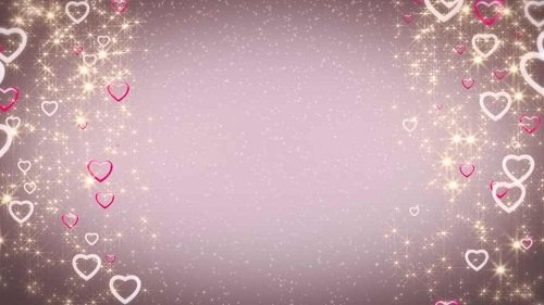 Свадебный футаж - Гламурные сердца