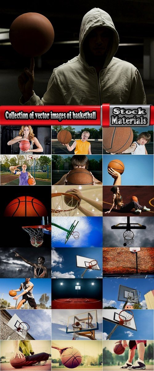 Collection of vector images of basketball 25 HQ Jpeg