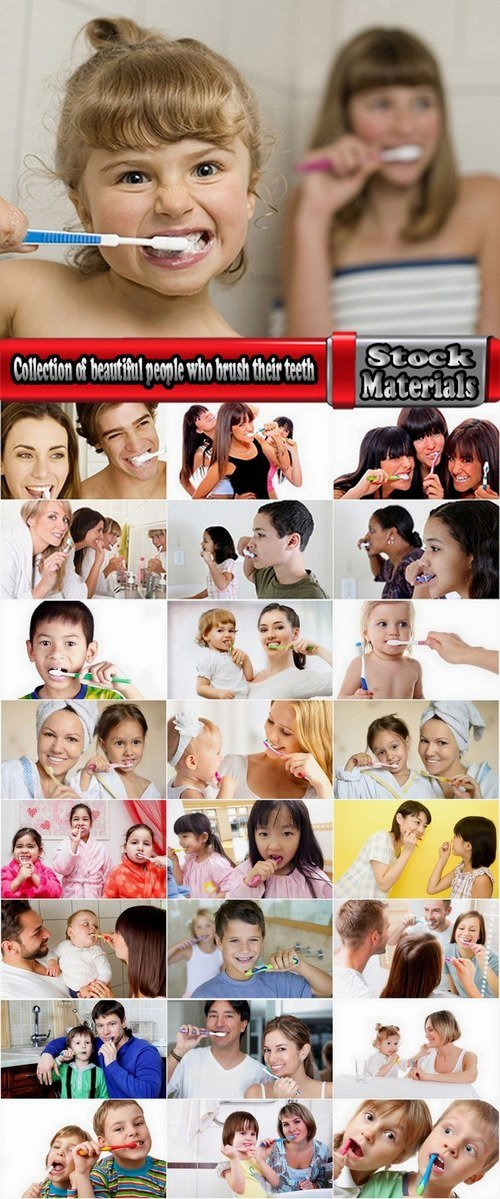 Collection of beautiful people who brush their teeth 25 HQ Jpeg
