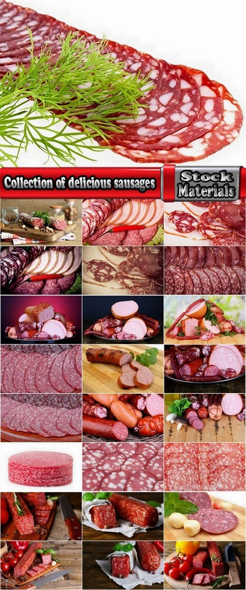 Collection of delicious sausages 25 HQ Jpeg