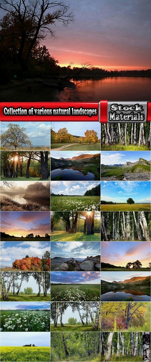 Collection of various natural landscapes 25 HQ Jpeg