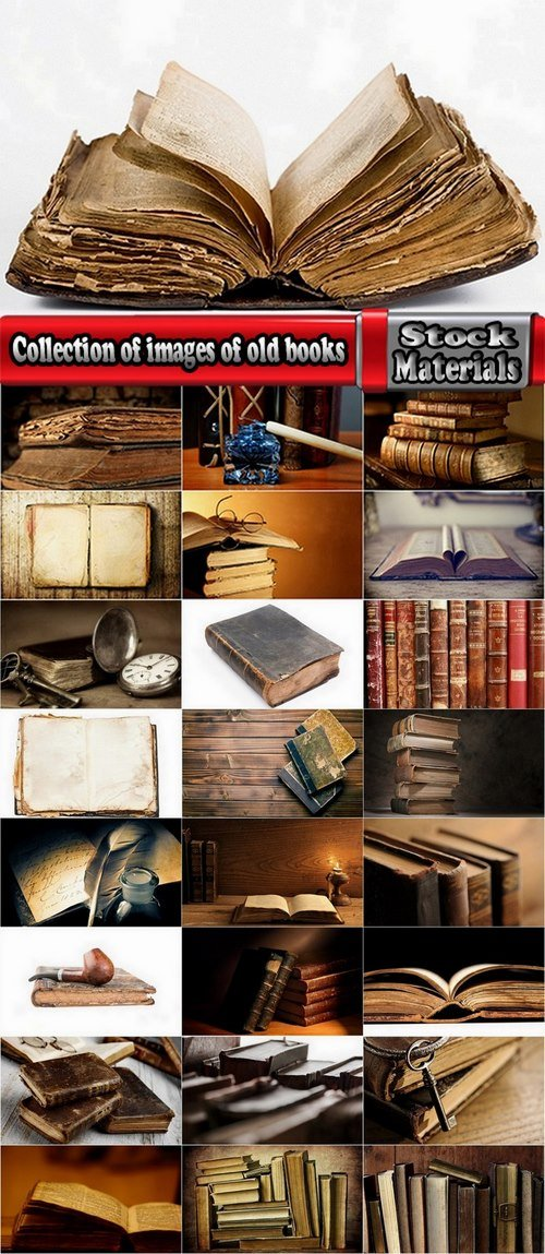 Collection of images of old books 25 HQ Jpeg