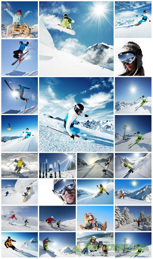 Winter sports, skiing - stock photos