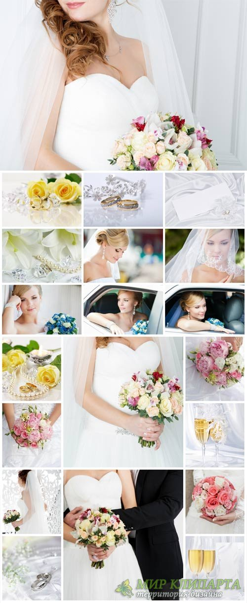 Wedding stock photos, bride and groom