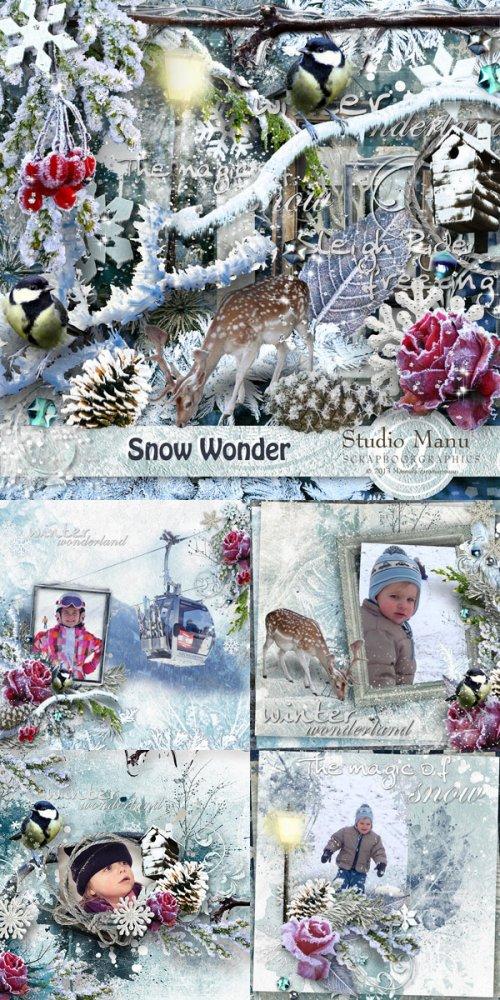 Скрап-набор Snow wonder