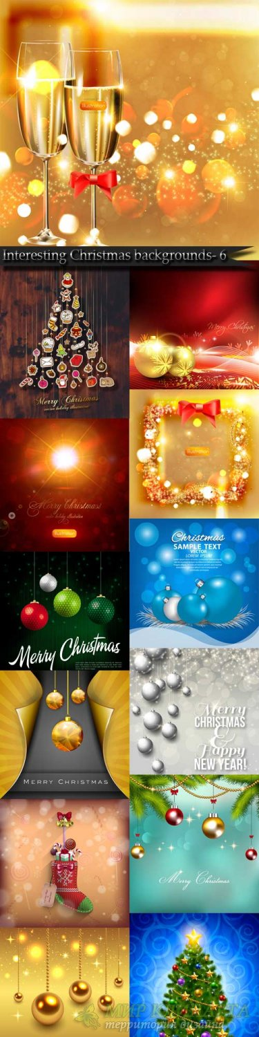 Interesting Christmas vector backgrounds- 6
