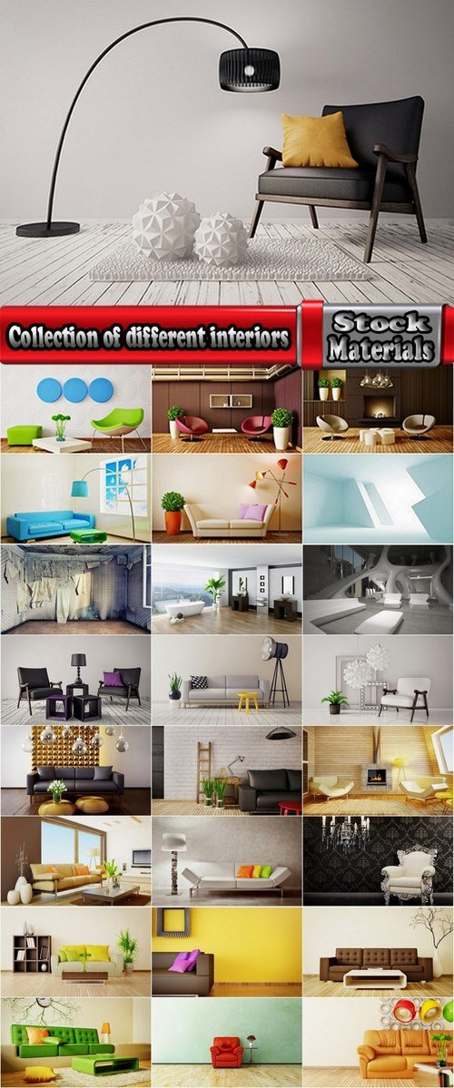 Collection of different interiors 25 HQ Jpeg