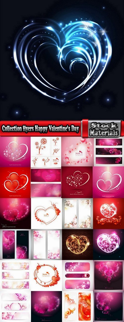 Collection flyers Happy Valentine's Day 25 Eps