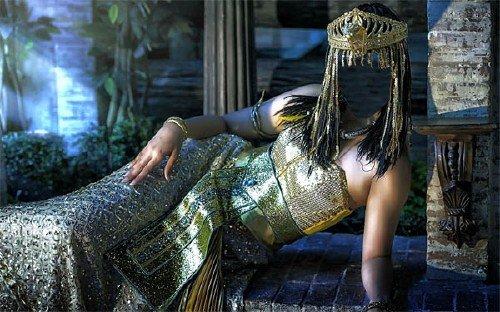 Шаблон для девушек - Египетская царица в наряде