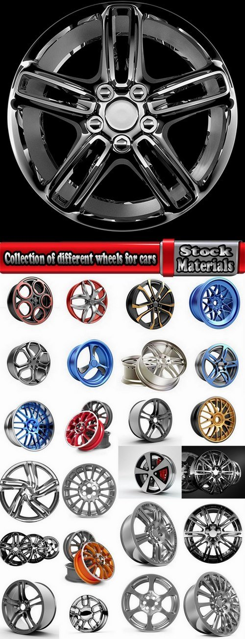 Collection of different wheels for cars 25 HQ Jpeg