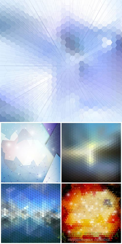 Vector backgrounds with abstraction # 46