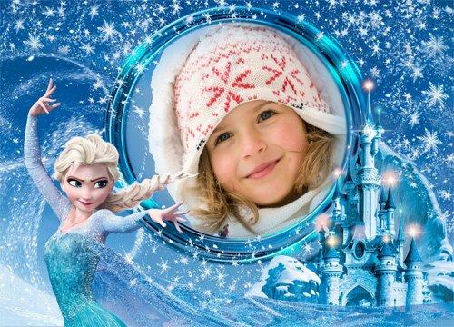 Рамка детская  - Замороженный замок
