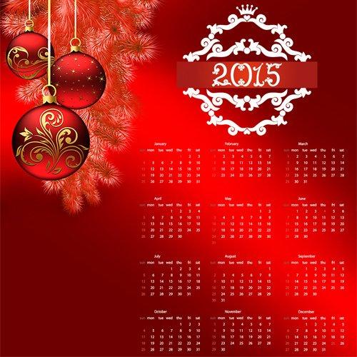 Календарь на 2015 год ''Новый Год в красном ''